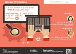 Covid-19: Workshop Pengajaran Bahasa dan Budaya Jepang secara Daring